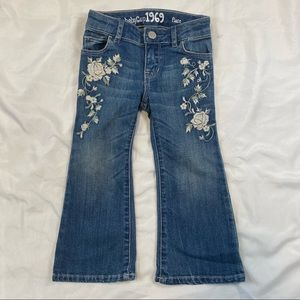 Baby Gap 1969 Embroidered Flare Jeans Sz 3